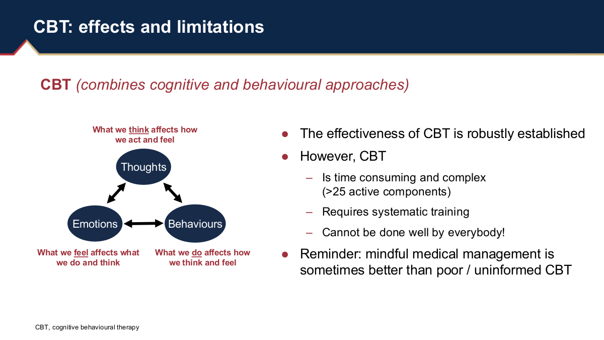 limitations of cbt