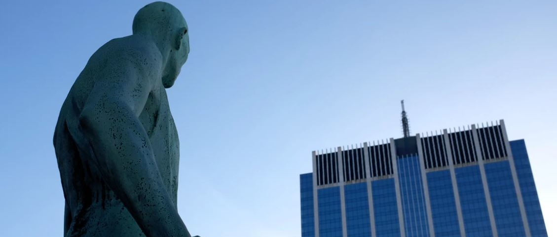 Statue and blue sky