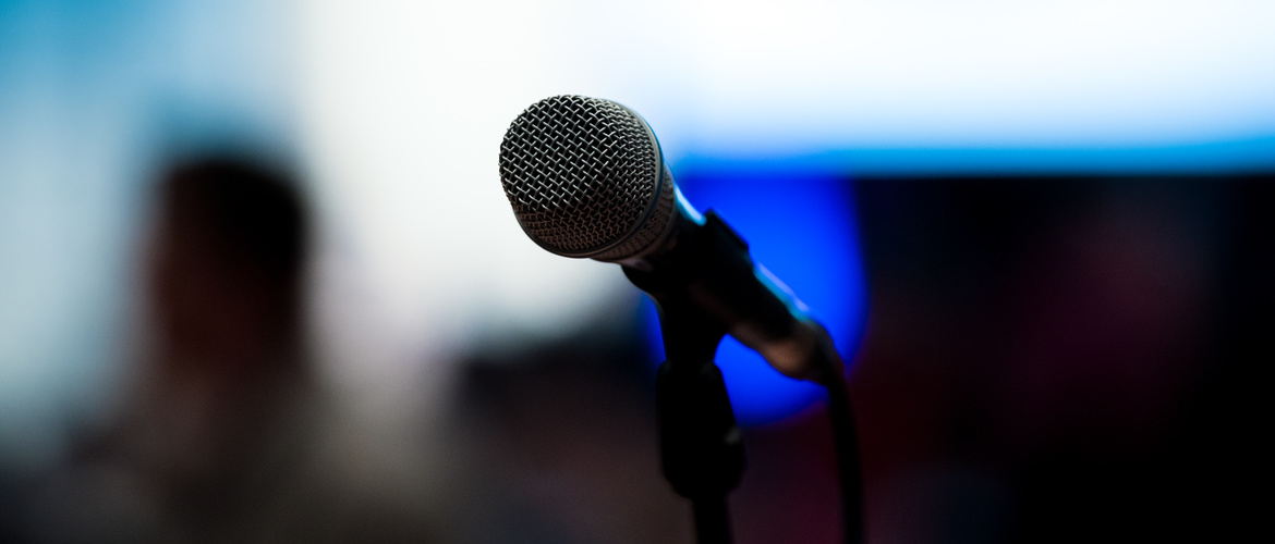Microphone in depression congress