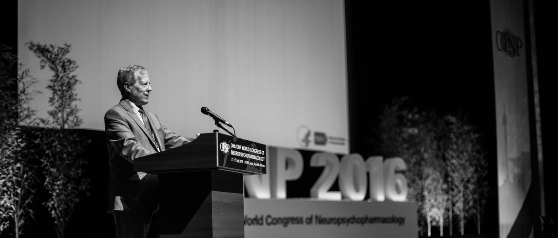 Dr Bruce Cuthbert presenting at CINP