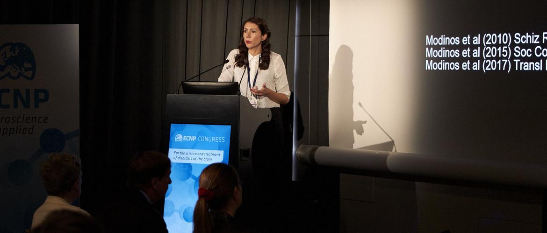 Dr. Gemma Modinos presenting