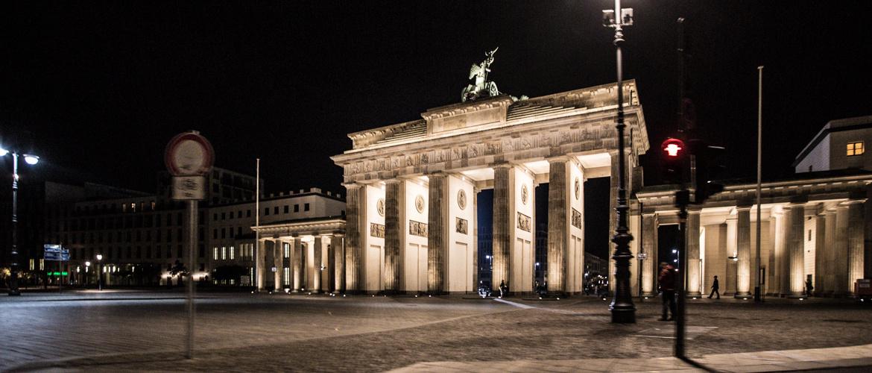 Brandenburg Gate in Berlin at night ECNP