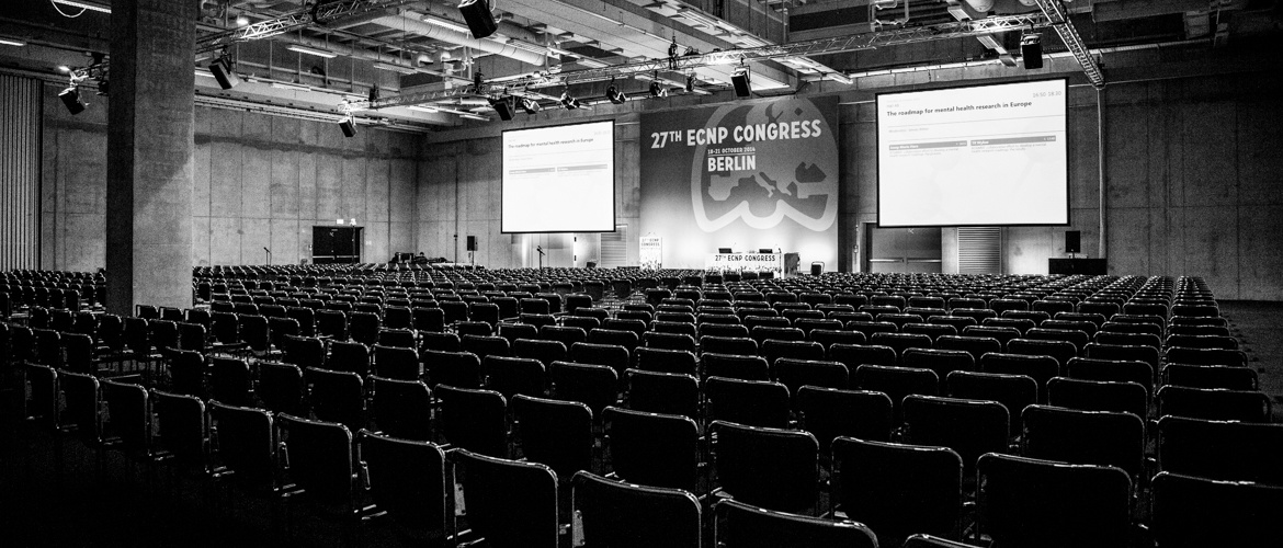 Empty congress hall at ECNP 2014