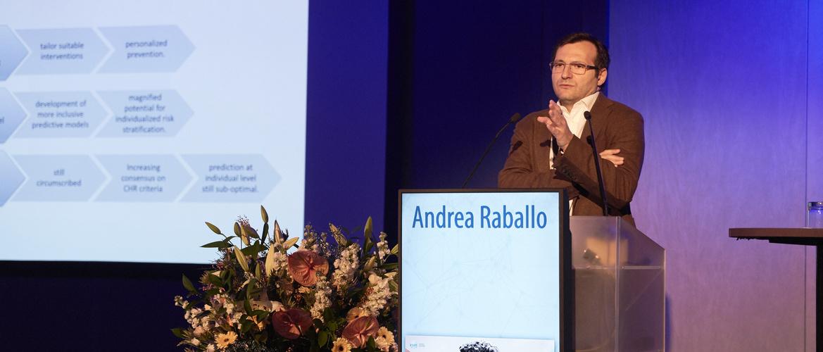 Anrea Raballo speaking